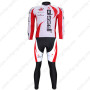 2011 Team Bissell Cycle Long Kit White Red