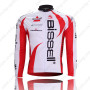 2011 Team Bissell Cycling Long Jersey White Red