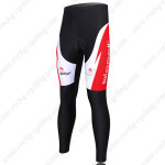 2011 Team Bissell Cycling Long Pants White Red