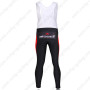 2011 Team Bissell Riding Long Bib Pants White Red