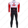 2011 Team Bissell Riding Long Kit White Red