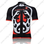 2011 Team CASTELLI Pro Cycling Jersey Black White Red