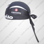 2011 Team Cervelo Cycling Bandana Head Scarf Black