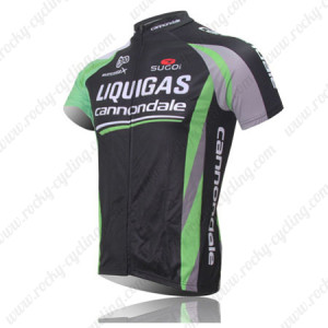 2011 Team LIQUIGAS cannondale Bike Jersey Black Green