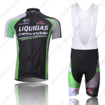 2011 Team LIQUIGAS cannondale Cycling Bib Kit Black Green