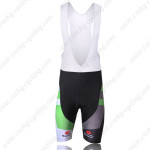 2011 Team LIQUIGAS cannondale Cycling Bib Shorts Black Green