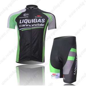 2011 Team LIQUIGAS cannondale Cycling Kit Black Green