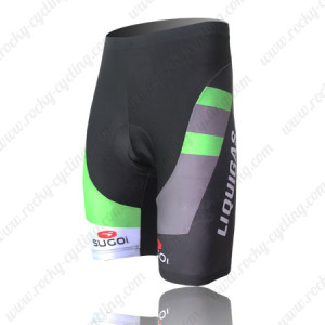2011 Team LIQUIGAS cannondale Cycling Shorts Black Green