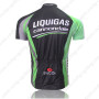 2011 Team LIQUIGAS cannondale Riding Jersey Black Green