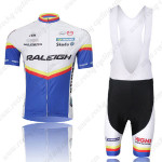 2011 Team RALEIGH Cycling Bib Kit White Blue