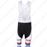 2011 Team RALEIGH Cycling Bib Shorts White Blue