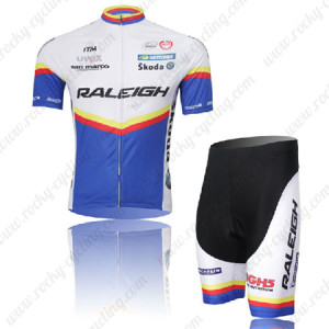 2011 Team RALEIGH Cycling Kit White Blue