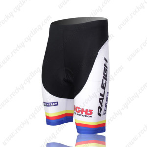 2011 Team RALEIGH Cycling Shorts White Blue