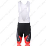 2011 Team SCOTT Cycling Bib Shorts Black Red