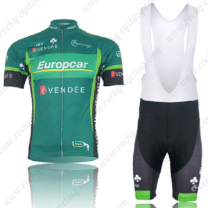 2012 Europcar Cycling Bib Kit Green
