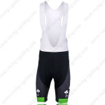 2012 Europcar Cycling Bib Shorts Black Green