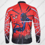 2012 Spiderman Riding Long Sleeve Jersey Red Black