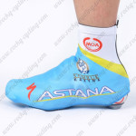 2012 Team ASTANA Cycling Shoes Covers Blue