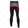 2012 Team CUBE Bicycle Long Pants Black Red