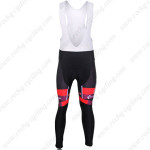 2012 Team CUBE Cycling Long Bib Pants Black Red