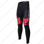 2012 Team CUBE Cycling Long Pants Black Red