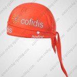 2012 Team Cofidis Cycling Bandana Head Scarf Orange