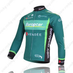 2012 Team Europcar Cycle Long Jersey Green