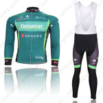 2012 Team Europcar Cycling Long Bib Kit Green