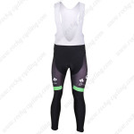 2012 Team Europcar Cycling Long Bib Pants Green
