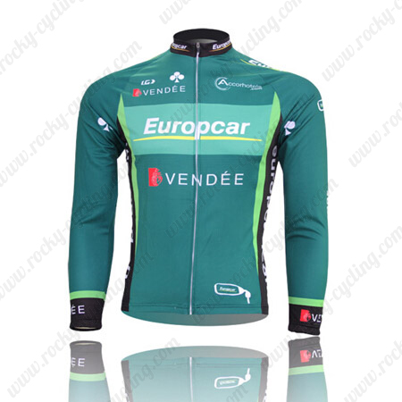 2012 Team Europcar Winter Cycle Wear Thermal Fleece Riding Long