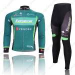 2012 Team Europcar Cycling Long Kit Green