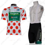 2012 Team Europcar Tour de France Riding Bib Kit Polka Dot