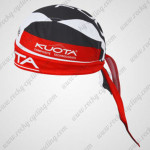 2012 Team KUOTA Cycling Bandana Head Scarf Black Red
