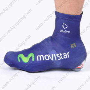 2012 Team Movistar Cycling Shoes Covers Blue