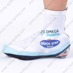 2012 Team QUICK STEP Cycling Shoes Covers White Blue