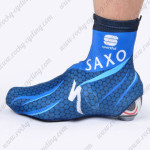 2012 Team SAXO BANK Cycling Shoes Covers Blue