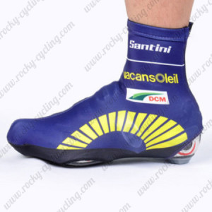 2012 Team Vacansoleil Cycling Shoes Covers Blue
