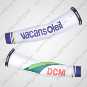 2012 Team Vacansoleil DCM Cycling Arm Warmers Sleeves White