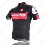 2013 Team Cervelo Bicycle Jersey Black Red