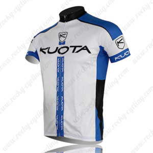 2013 Team KUOTA Bike Jersey White Blue