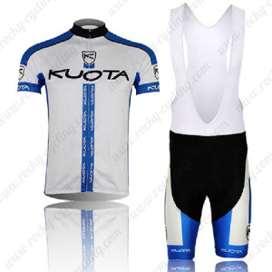 2013 Team KUOTA Cycling Bib Kit White Blue