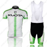 2013 Team KUOTA Cycling Bib Kit White Green