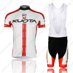 2013 Team KUOTA Cycling Bib Kit White Red