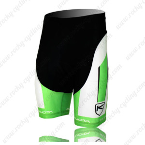 2013 Team KUOTA Cycling Shorts White Green