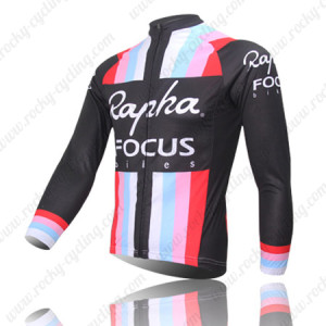 2013 Team Rapha FOCUS Cycle Long Jersey Black