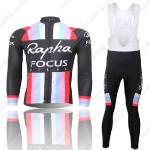 2013 Team Rapha FOCUS Cycling Long Bib Kit Black
