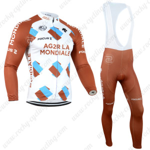 2014 Team AG2R LA MONDIALE Cycling Long Bib Kit