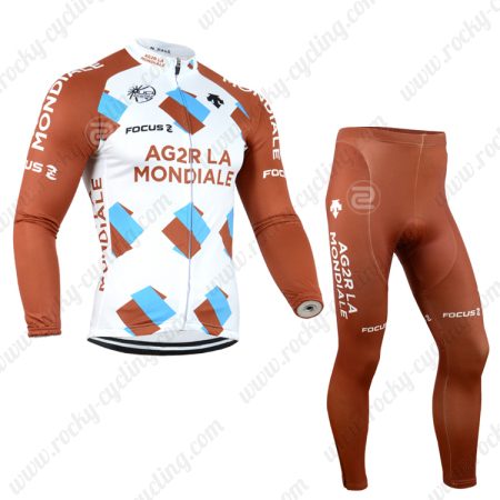 2014 Team AG2R LA MONDIALE Pro Cycle Apparel Riding Long Jersey and ... efbaa0a1c