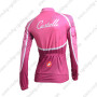 2014 Team Castelli Women's Bicycle Long Jersey Maillot Pink