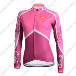 2014 Team Castelli Women's Cycling Long Jersey Maillot Pink